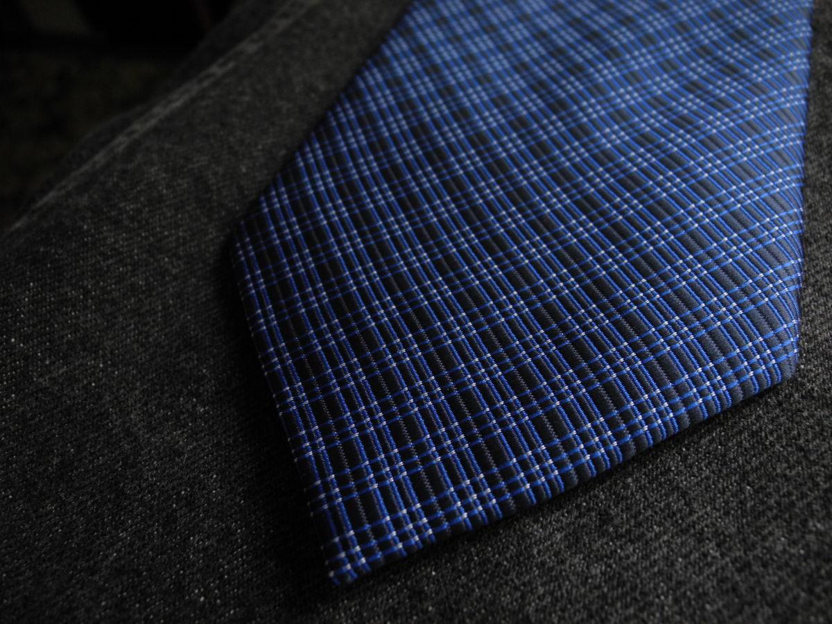 Фото - Мужской галстук синий в клетку George