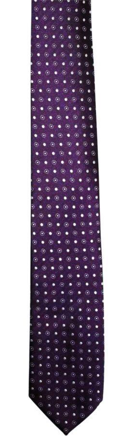 Фото 6 - Мужской галстук в горошек в узорчик узкий Tailor and Cutter
