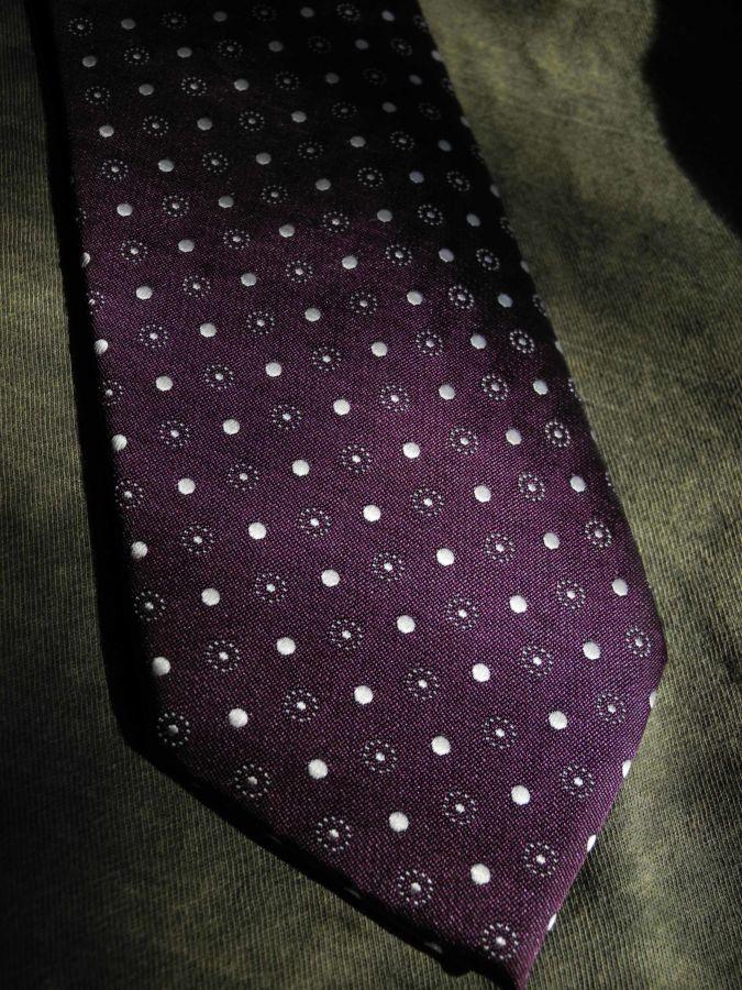 Фото 4 - Мужской галстук в горошек в узорчик узкий Tailor and Cutter
