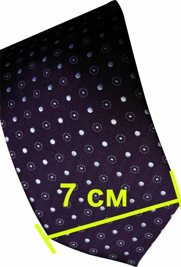 Фото 8 - Мужской галстук в горошек в узорчик узкий Tailor and Cutter