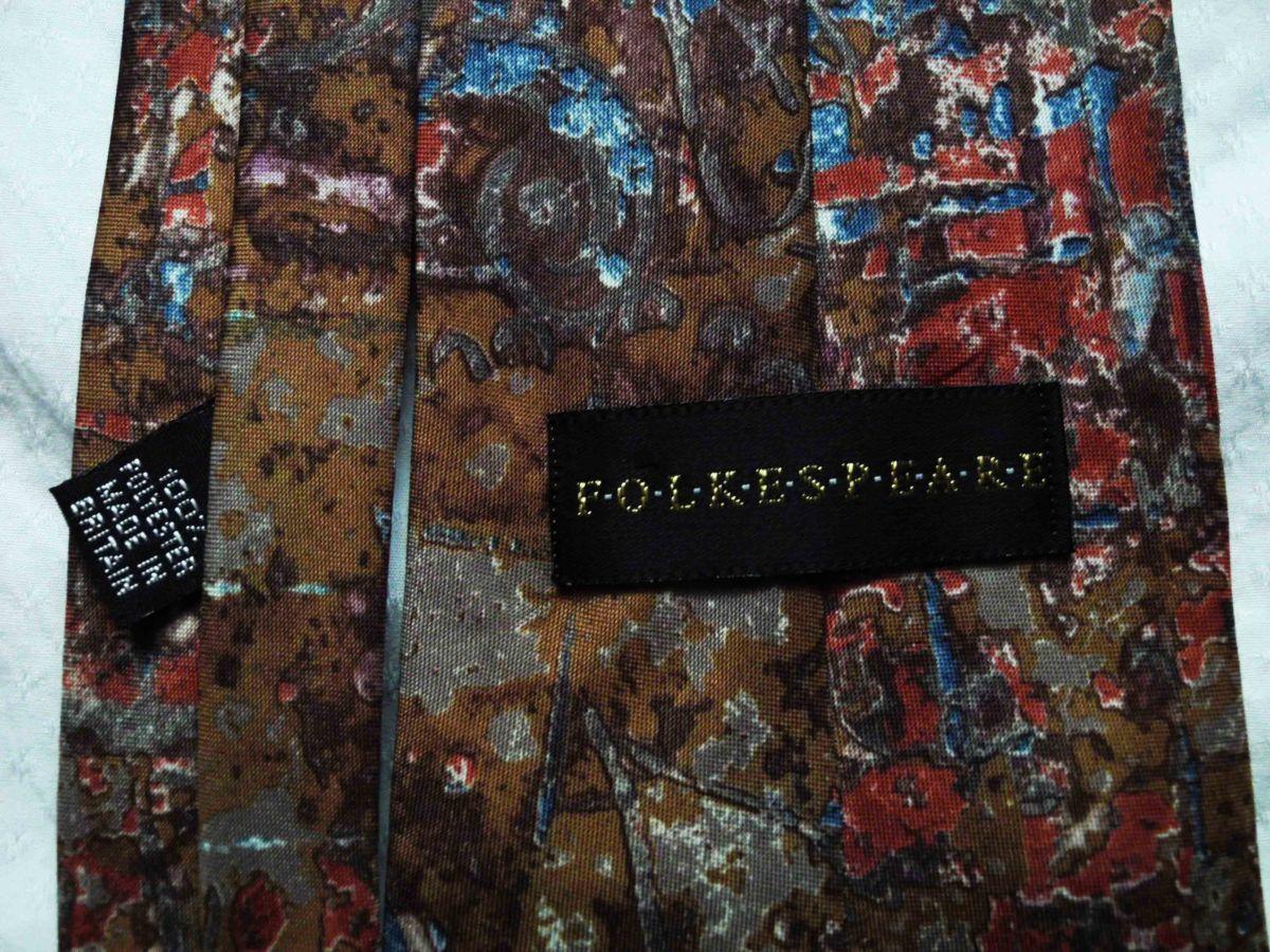 Фото 3 - Мужской галстук с узорами Folkespeare Britain