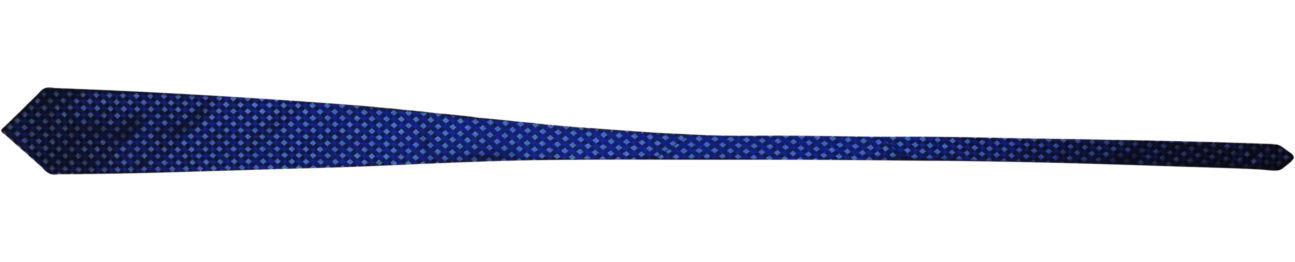 Фото 2 - Мужской галстук 100% шелк в клетку синий Hugo Boss Italy