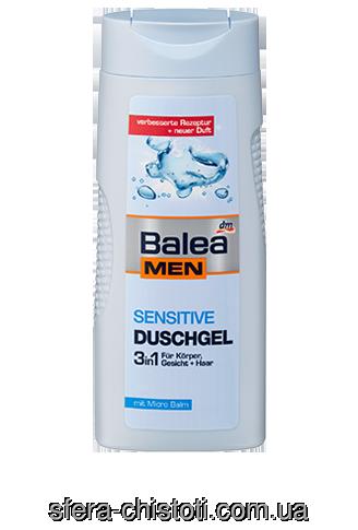 Фото - Гель для душа Balea sensitive для мужчин 3 в 1, 300 мл