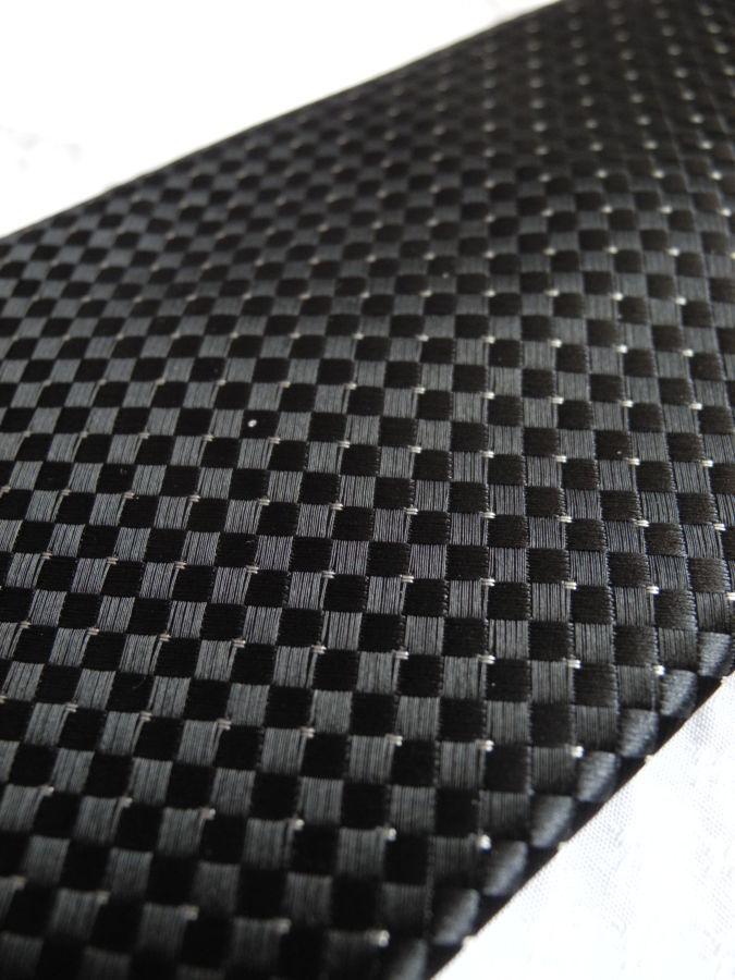Фото 3 - Мужской галстук в крап темно серый не широкий узкий George
