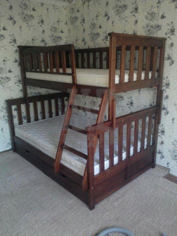 Фото 2 - Двухъярусная кровать Жасмин М + матрасы + 2 подушки в подарок