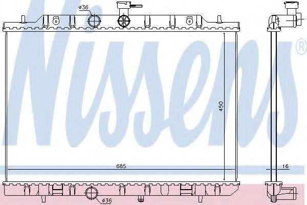 Фото - радиатор охлаждения и кондиционера NISSAN X-TRAIL (T31)   67365
