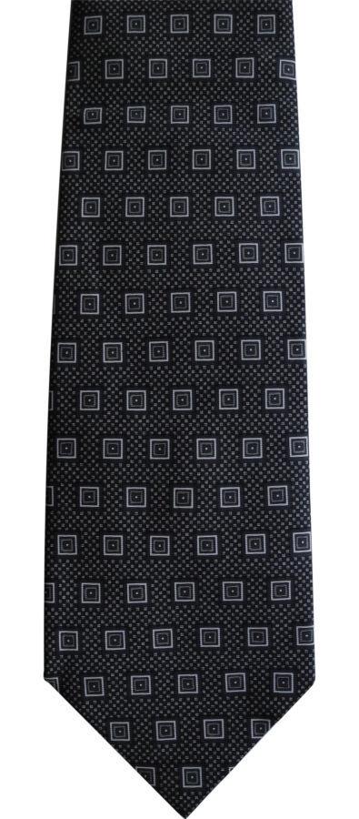 Фото 4 - Мужской галстук в узорчик 100% из шелка Pure silk Италия