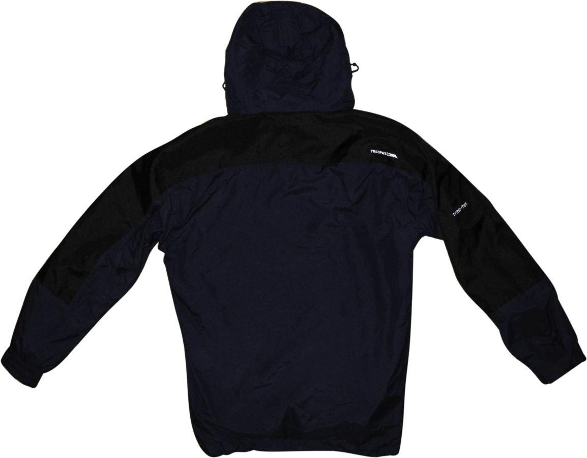 Фото 3 - Мужская куртка 2in1 синяя черная с капюшоном Trespass TP75 tres-tex XL