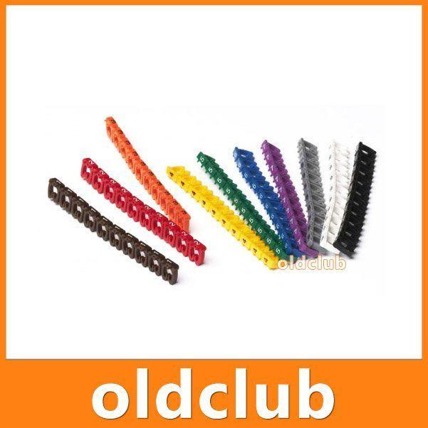 Фото - 100 х Цветной нумератор маркер сетевого кабеля
