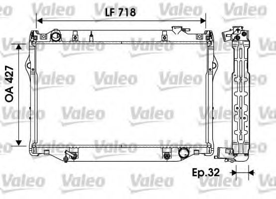 Фото - радиатор охлаждения и кондиционера toyota Land Cruiser V (J80)