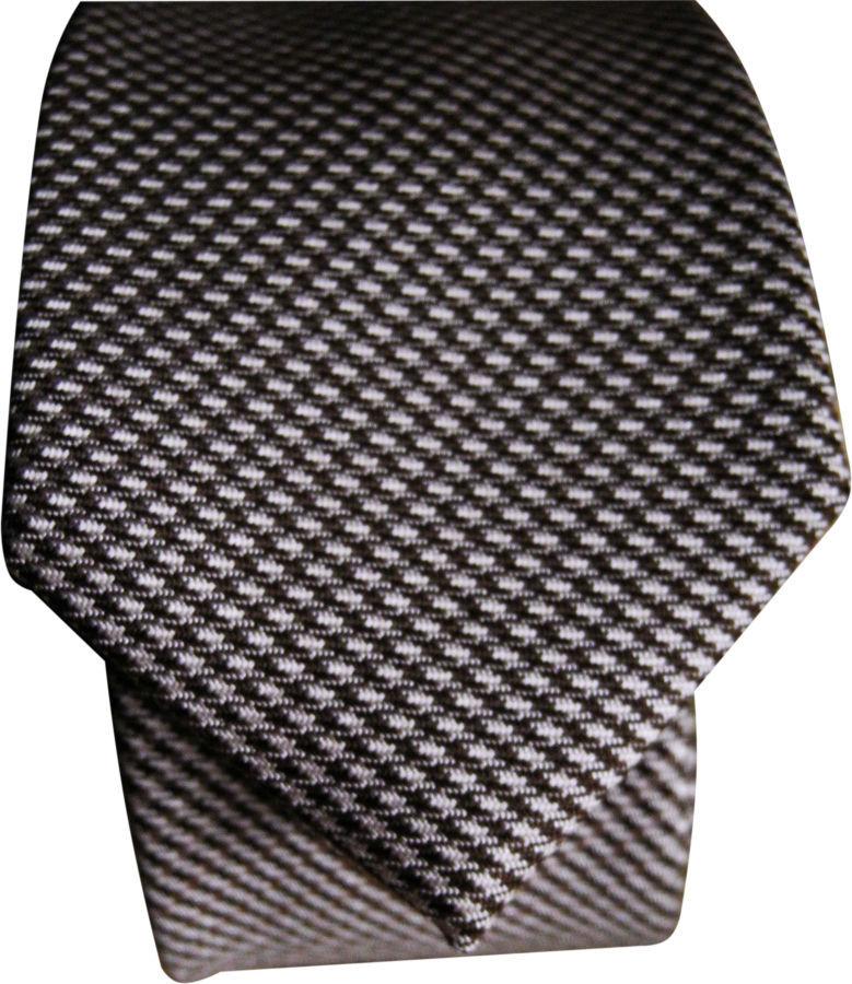 Фото 5 - Мужской галстук необычный интересный узкий с узором Nigel HALL