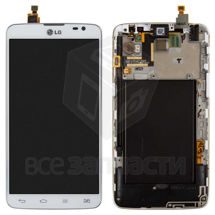 Фото - Дисплейный модуль LG D686 G Pro Lite Dual, белый, с передней панелью