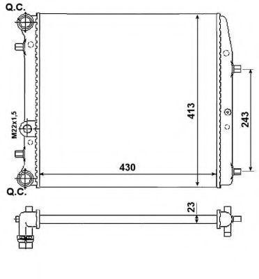 Фото - радиатор охлаждения и кондиционера skoda fabia(шкода фабия)