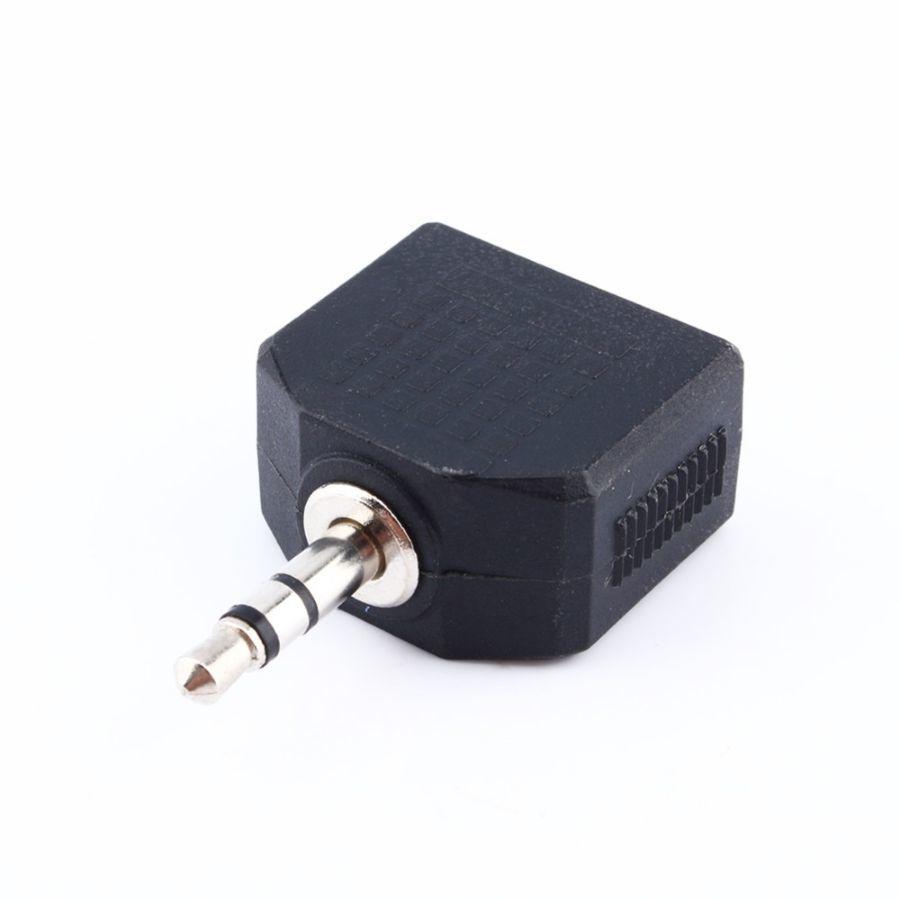 Фото 2 - Сплитер адаптер аудио разветвитель AUX Jack 3,5 мм на 2х3,5 мм наушник