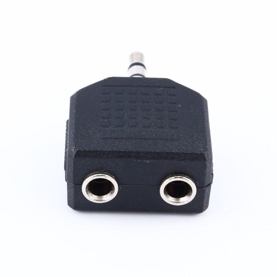 Фото 4 - Сплитер адаптер аудио разветвитель AUX Jack 3,5 мм на 2х3,5 мм наушник