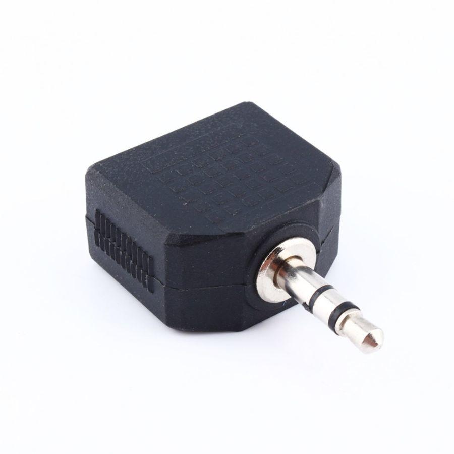 Фото 8 - Сплитер адаптер аудио разветвитель AUX Jack 3,5 мм на 2х3,5 мм наушник