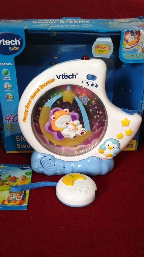 Проектор ночник с таймером сна в детскую комнату с пультом Vtech
