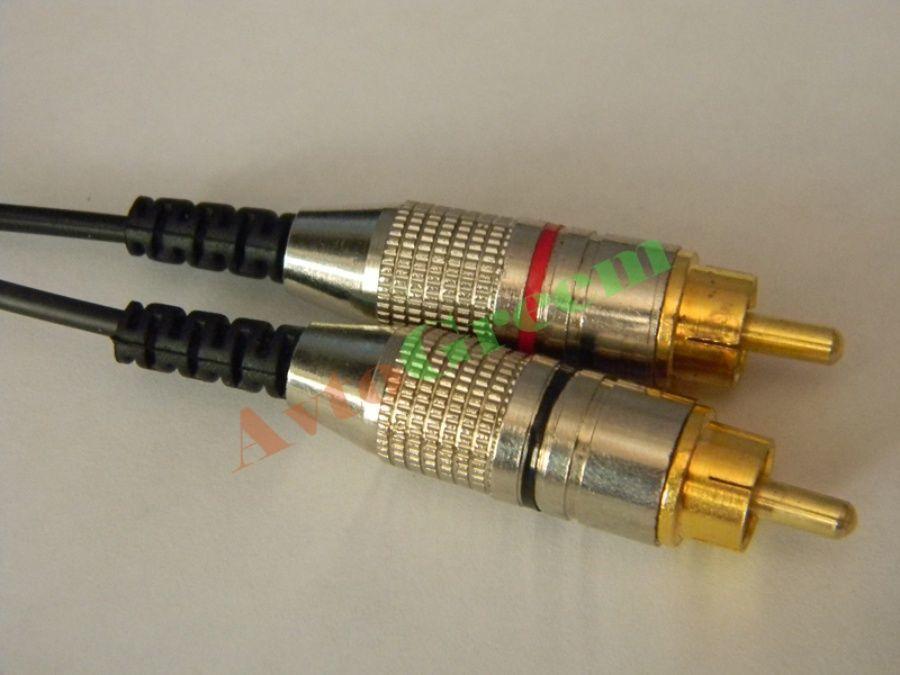 Фото 3 - Межблочный кабель (Jack 3.5 - 2RCA)