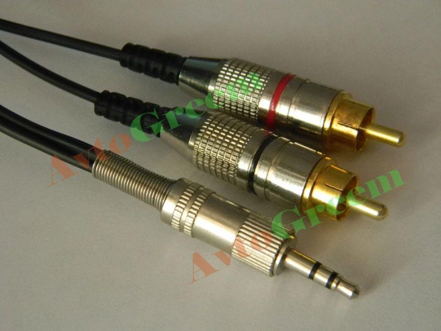 Фото 2 - Межблочный кабель (Jack 3.5 - 2RCA)