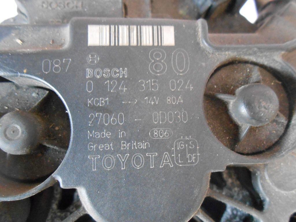 Фото 2 - Генератор TOYOTA Avensis (T220) 97-03