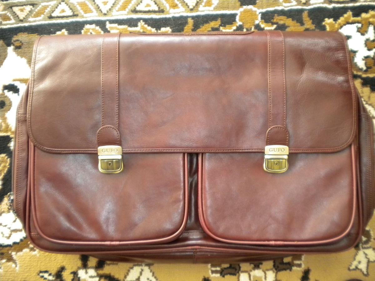 Фото 3 - Дорожная сумка Gufo из натуральной кожи