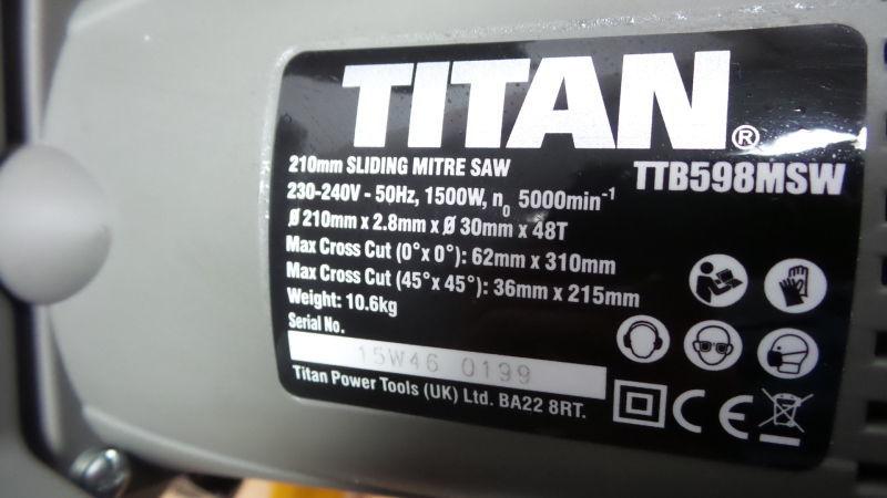 Фото 9 - Торцовочная пила TITAN Великобритания циркулярная пила