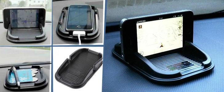 Фото - Липкий нано коврик авто держатель для телефона