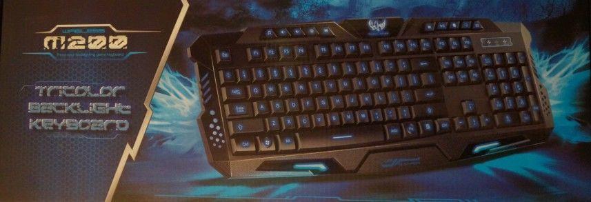 Игровая мультмедиа USB проводная клавиатура с подсветкой клавиш М200