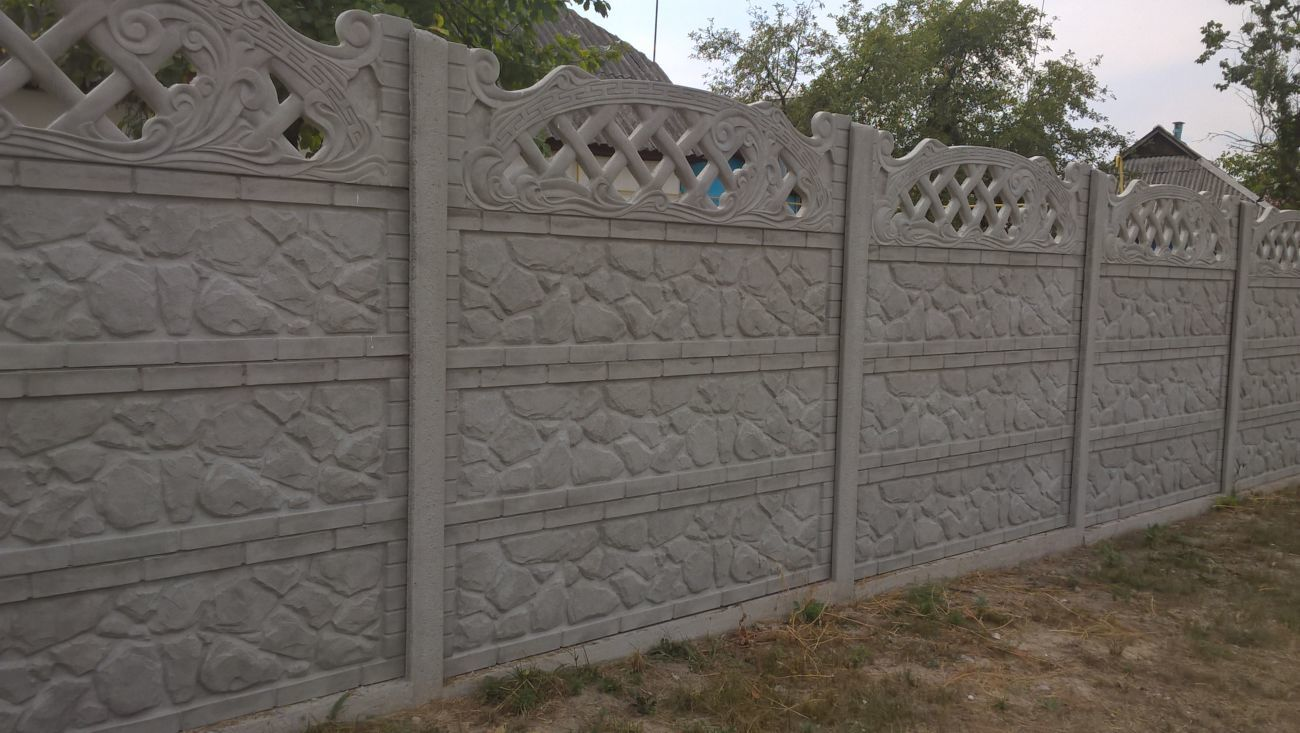 Фото - бетонный забор
