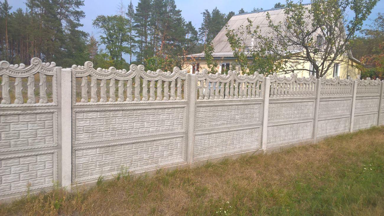 Фото 10 - бетонный забор