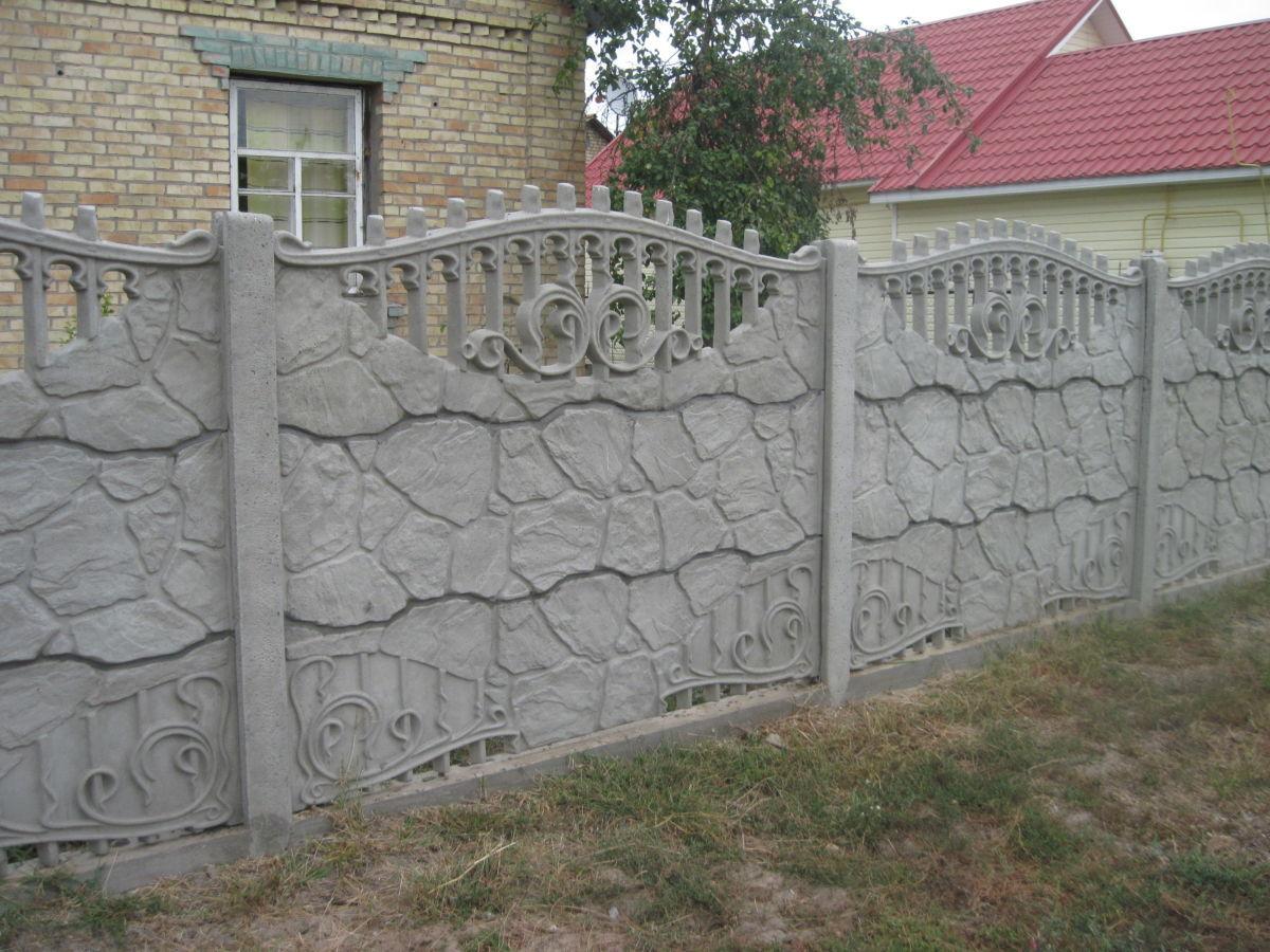 Фото 2 - бетонный забор