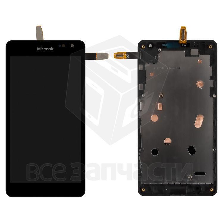 Фото - Дисплейный модуль Microsoft (Nokia)535 Lumia Dual SIM,черный,с рамкой