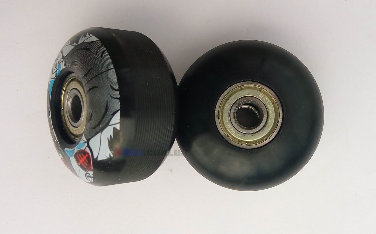 Черное 52x32 мм. Jump PU 100A Колеса для скейтборда 4 шт