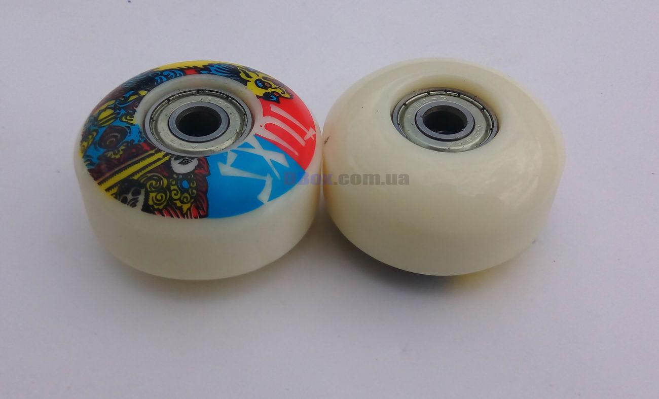 Белое колесо для скейтборда Jump PU 100A, 52x32мм, 4 шт