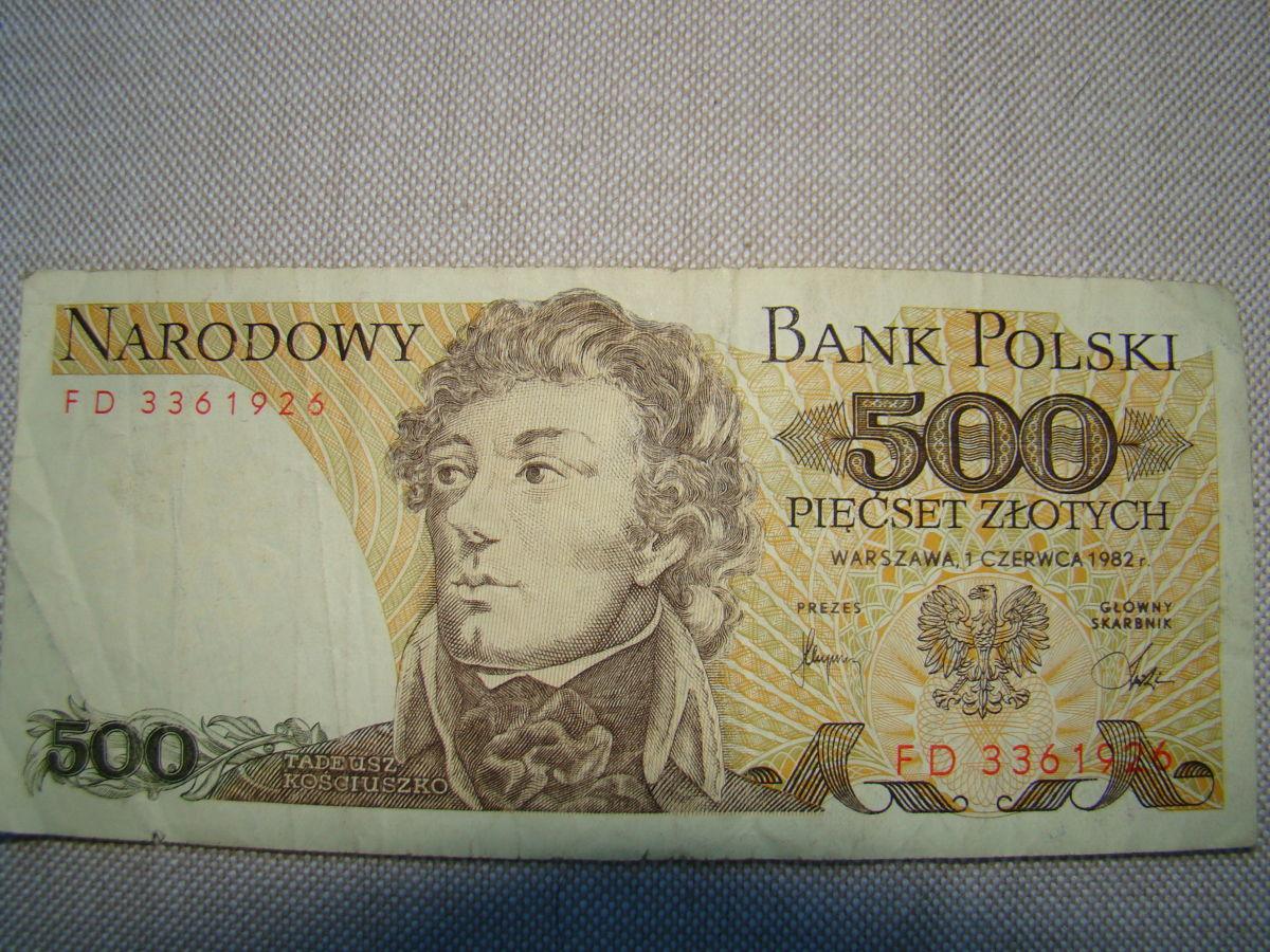 500 злотых 1982 цена 500 рублей википедия