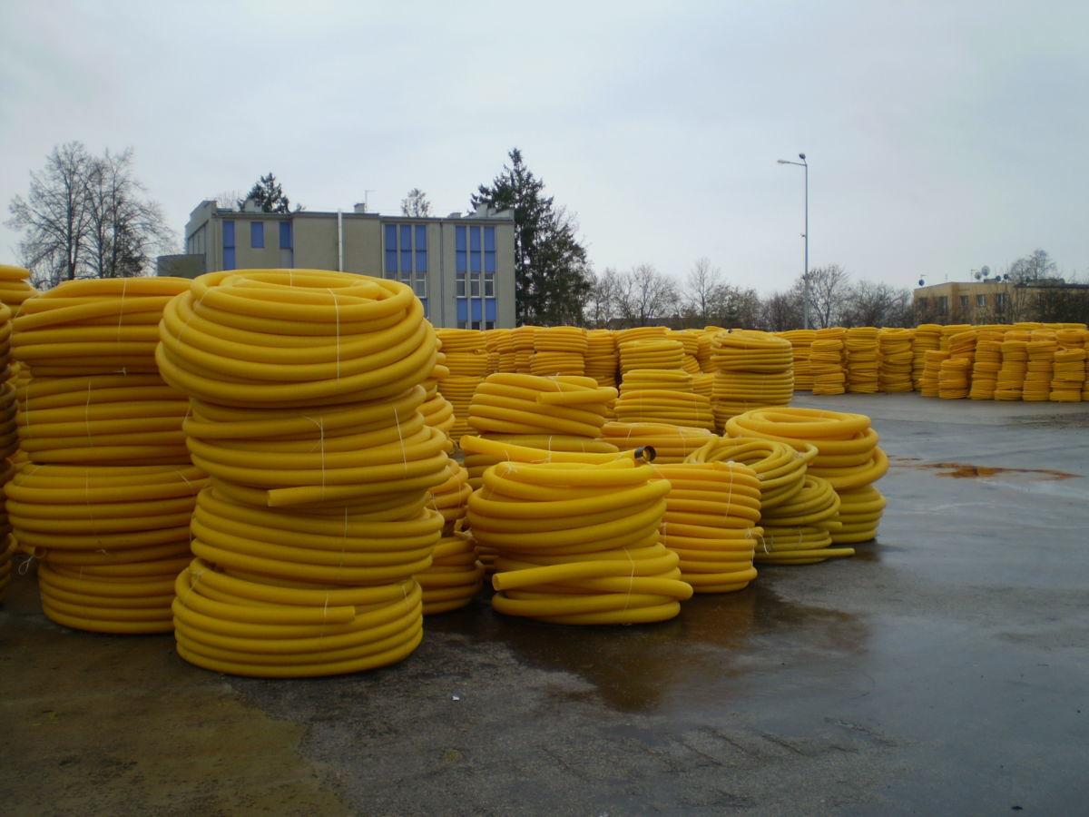 Трубы дренажные 50, 100, 160, 200, 315 мм. Склад производителя