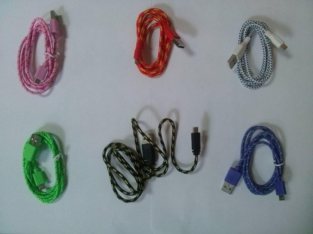 Кабель micro usb 1 метр шнур плетенный