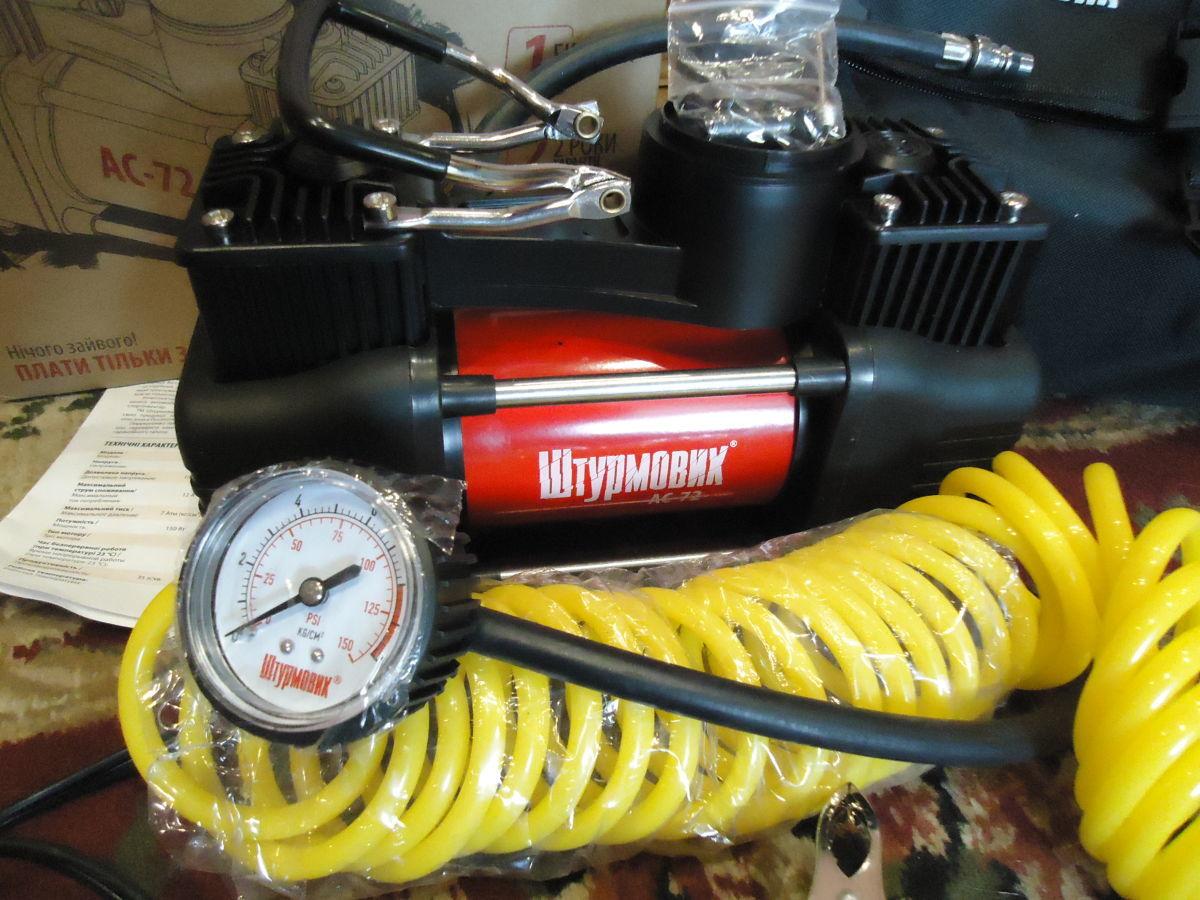 Фото 4 - Автомобильный компрессор Штурмовик АС-72 (двухцилиндровый)