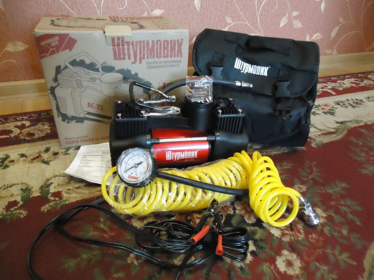 Фото - Автомобильный компрессор Штурмовик АС-72 (двухцилиндровый)
