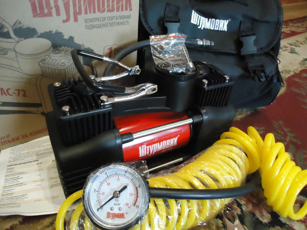 Фото 2 - Автомобильный компрессор Штурмовик АС-72 (двухцилиндровый)