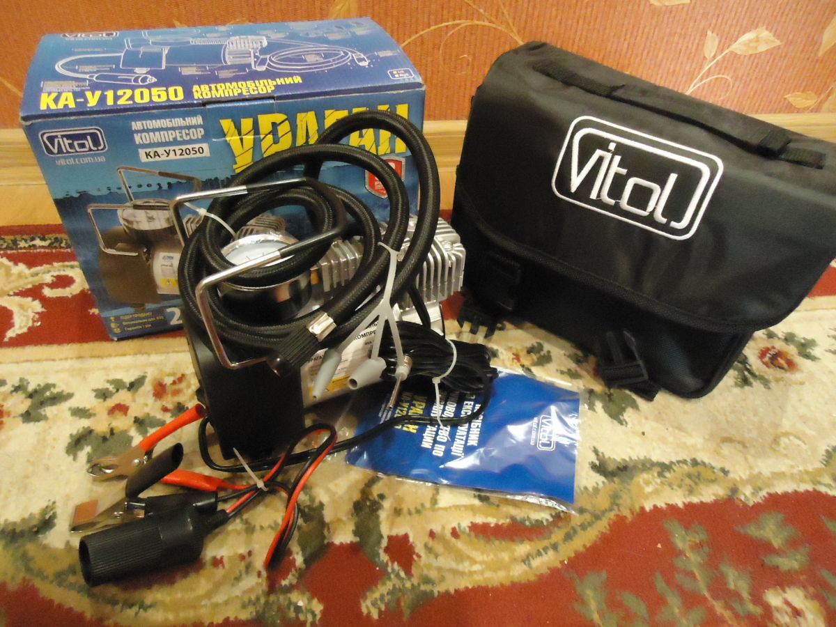 Фото - Автомобильный компрессор Ураган КА-У12050