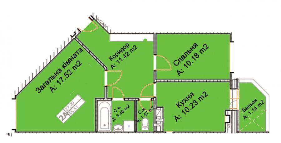 Фото 2 - Квартира с документами в ЖК буча квартал
