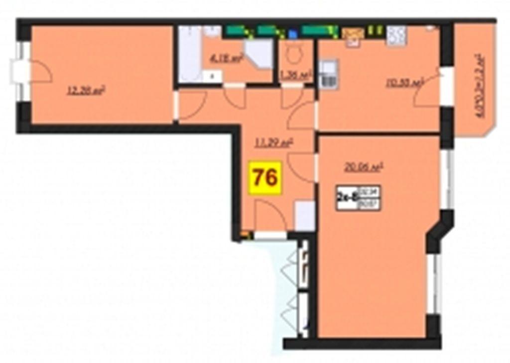 Фото 2 - Квартира в комплексе премиум класса RICH TOWN Ирпень