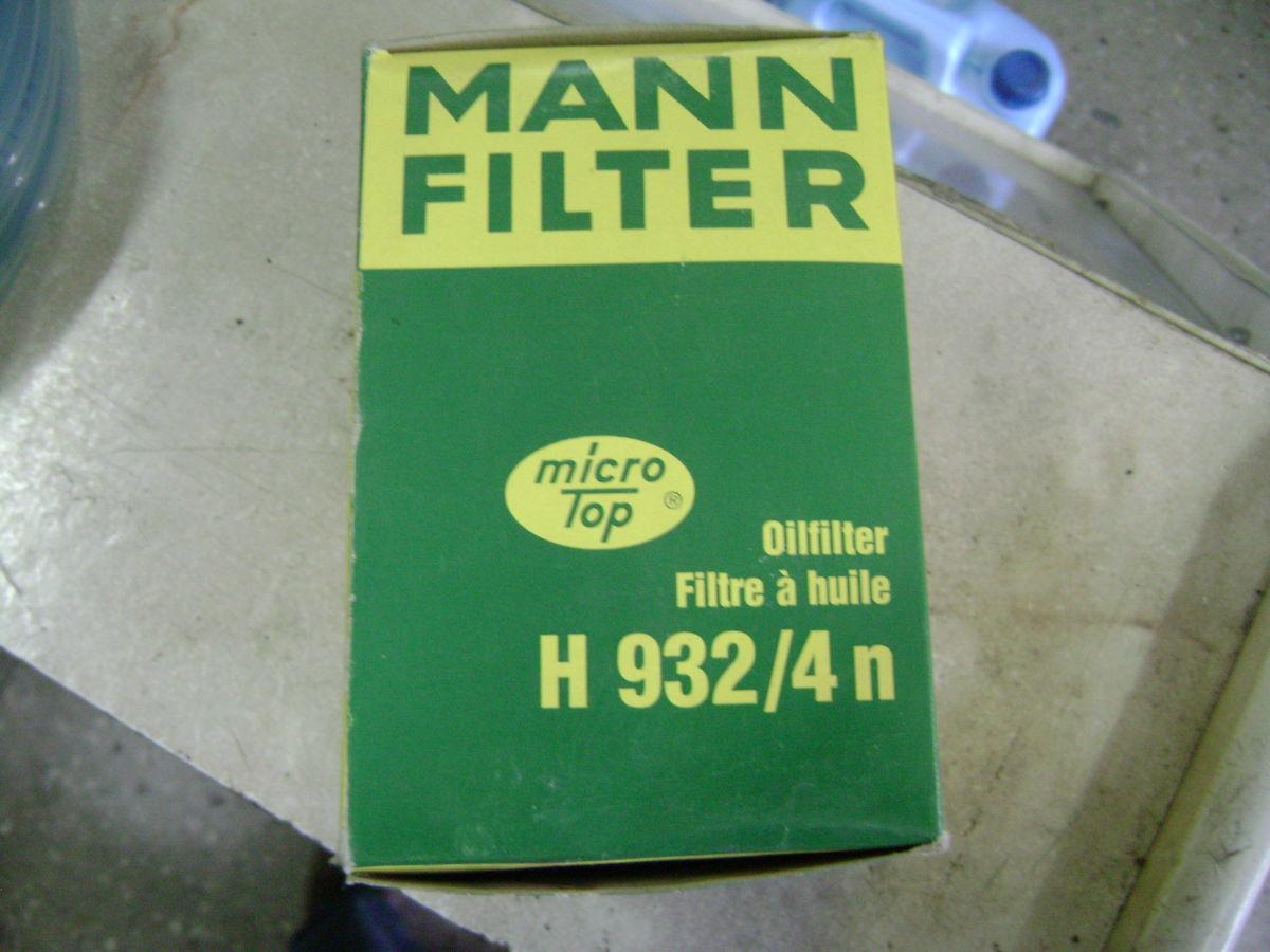 Фото - Фильтр масляный MANN H932/4n MERCEDES 84-98 г.в.