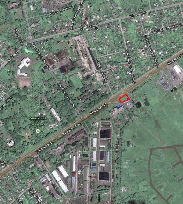 Продажа земельного участка подд строительство АГНК, АЗС в Житомире.