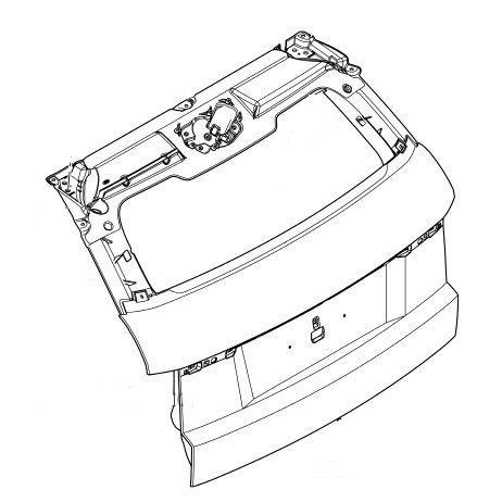 LR046935 Задняя крышка багажника 3 Door | Range Rover Evoque