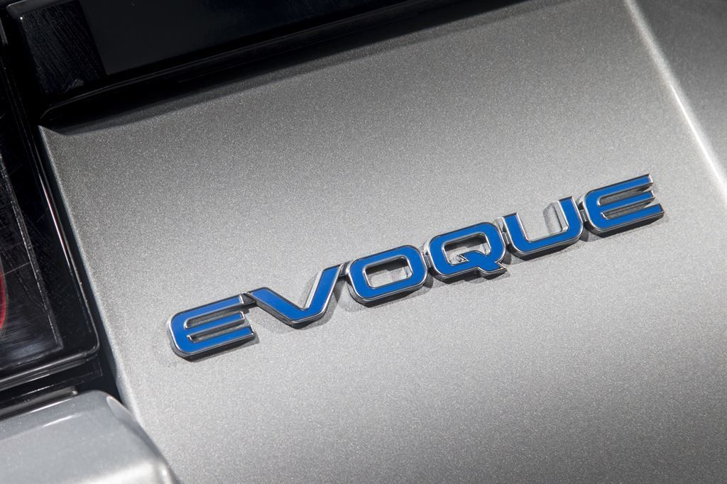 "LR078574 Задняя эмблема ""Evoque"" Blue 