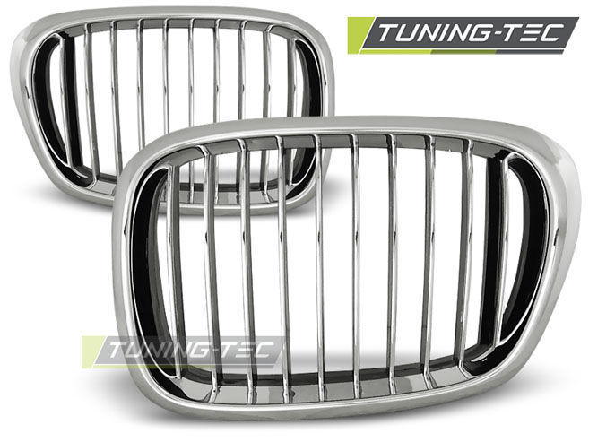 Решётки радиатора BMW E39 09.95-06.03 CHROME (GRBM07)