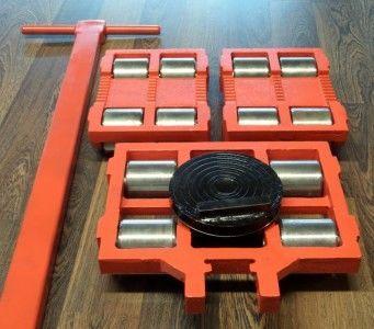 Тележка такелажная роликовая для станков оборудования