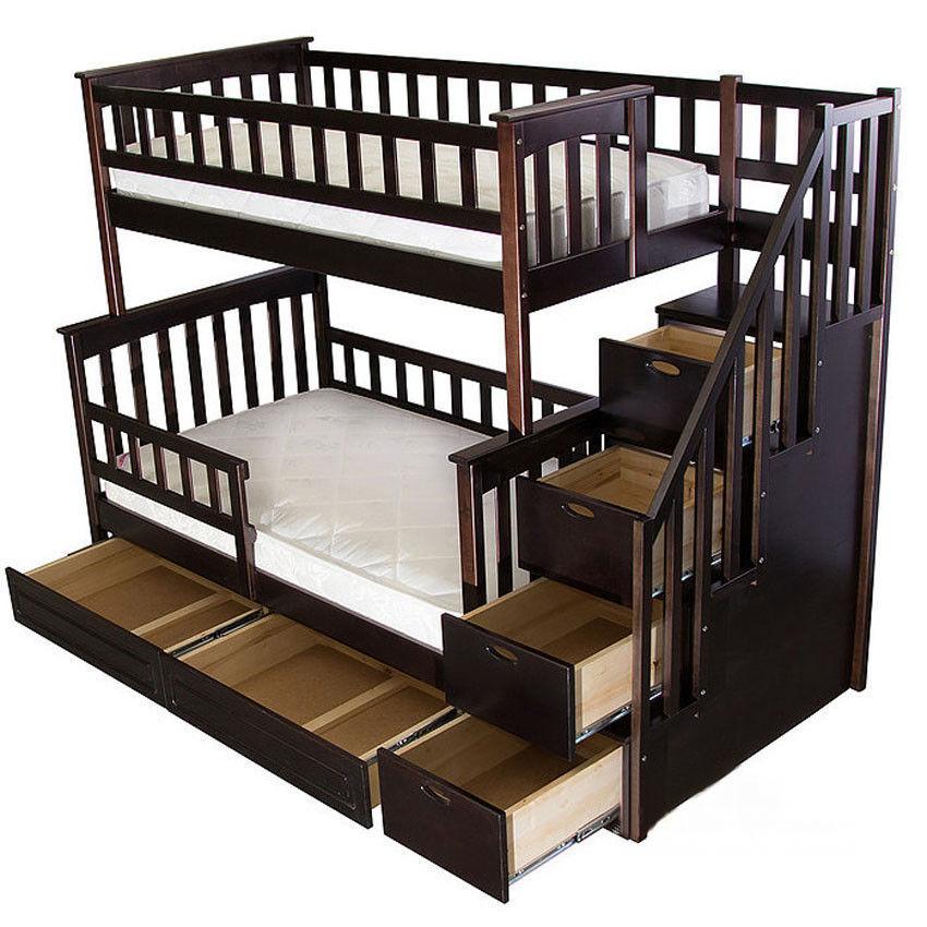 """Двухъярусная кровать """"Альбинос Макси"""" (трансформер) массив"""